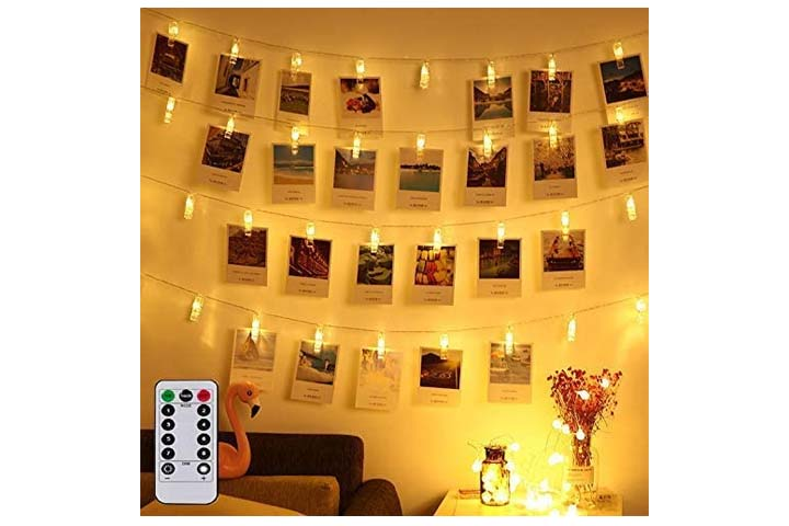 Magnolian LED Photo Clip Remote String Lights