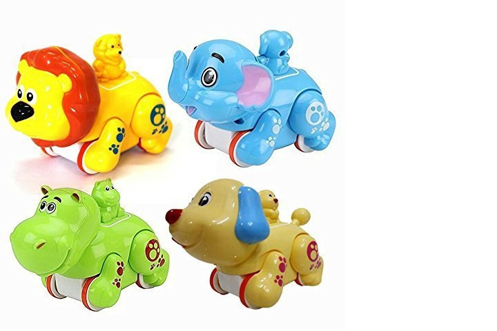Mayatra Colorful Press and Go Friction Animal Toy