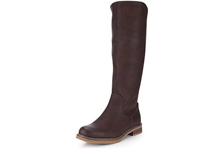 Minever Women's Knee High Riding Boots, Low Heel
