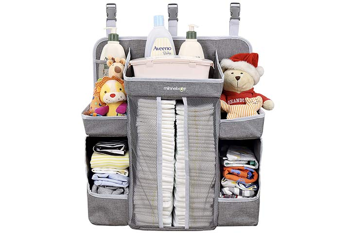 Minnebaby Nursery Organizer and Diapers Organizer