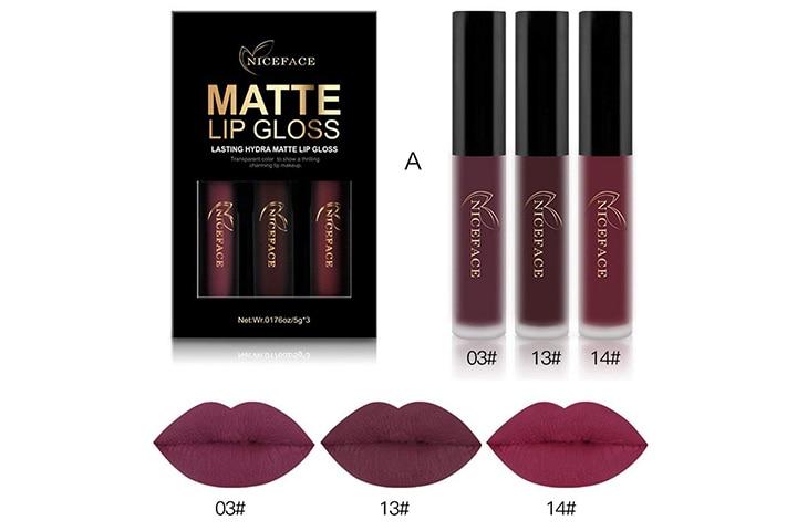 NICEFACE Matte Lip Gloss- Set A