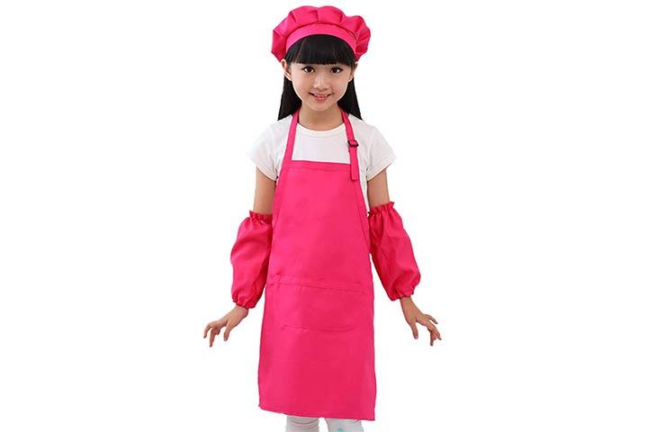 Nanxson Kids Apron And Chef Hat Set