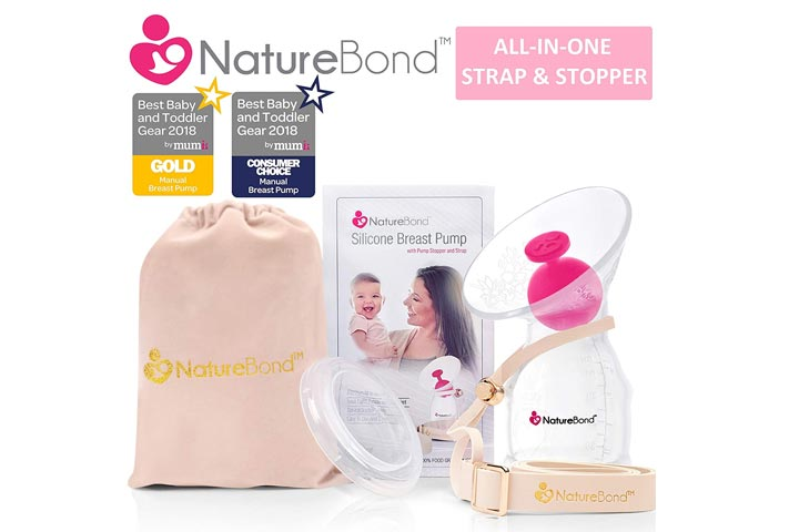 Naturalbond Silicon Breastfeeding Manual Breast Pump