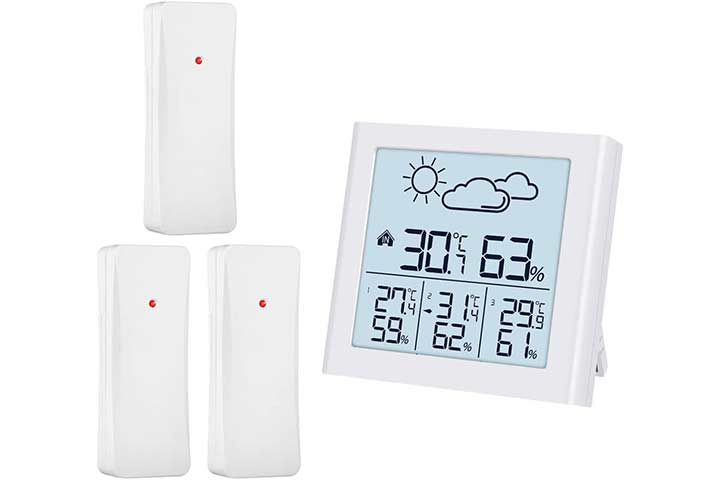 ORIA Weather Forecast Station, Indoor-Outdoor Thermometer
