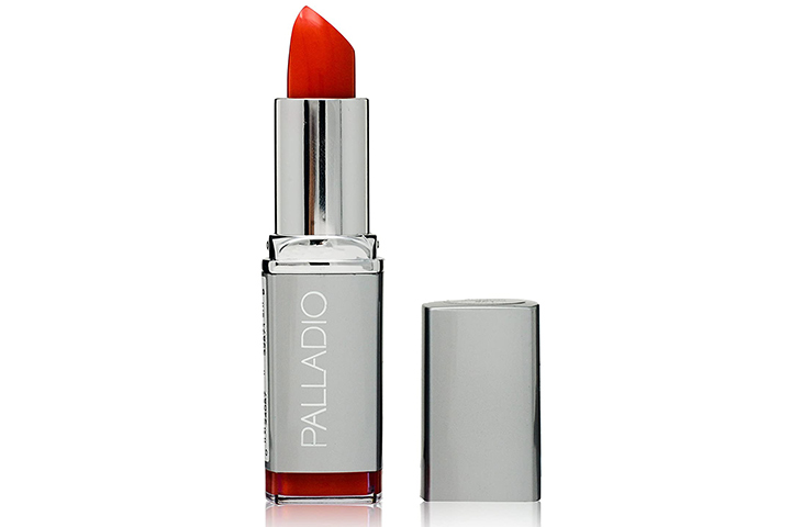 Palladio Herbal Lipstick, Coral Punch, Rich Pigmented and Creamy Lipstick