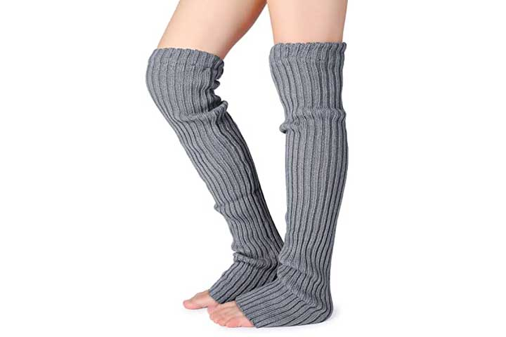 Pareberry Womens Over Knee High Footless Socks