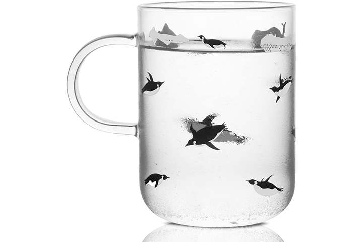 Penguin Glass Coffee Mug