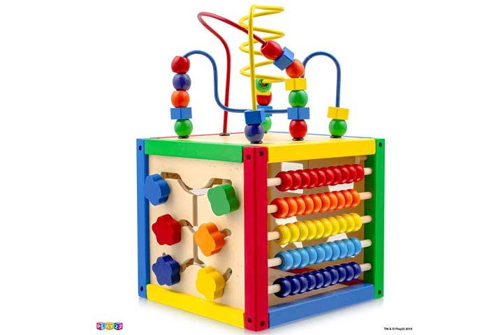 Play 22 Activity Cube With Bead Maze