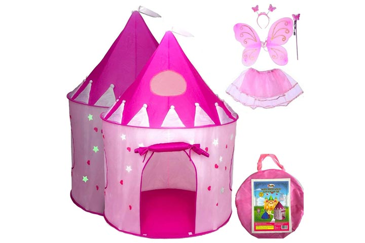Playz Pop Up Castle And Dress Up Costume