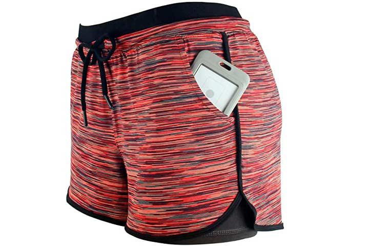 RIBOOM Womens Workout Running Shorts