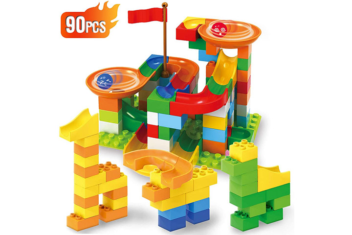 Ranphykx Building Blocks Marble Run