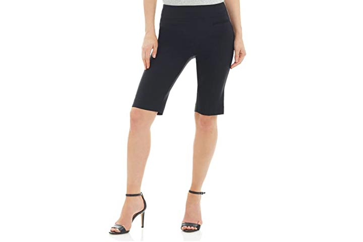 Rekucci Womens Ease In To Comfort Pull-On Modern City Shorts