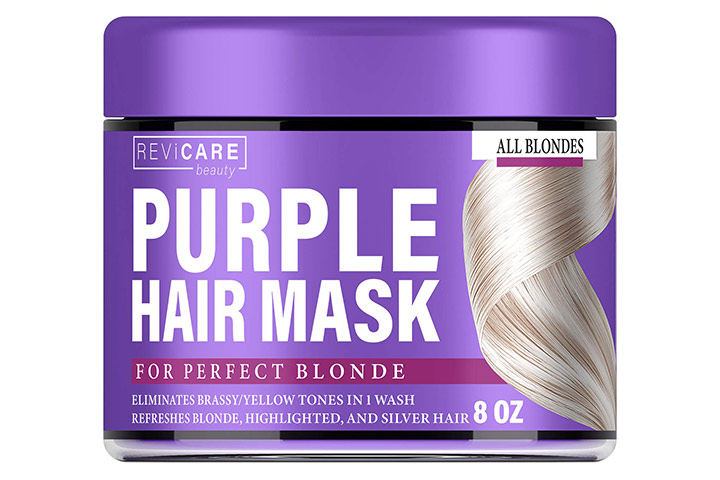 Revicare Beauty Purple Hair Mask - Hair Toner For Blonde Hair