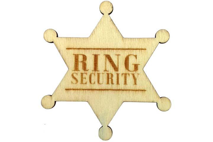 Ring Security Badge Breastpin