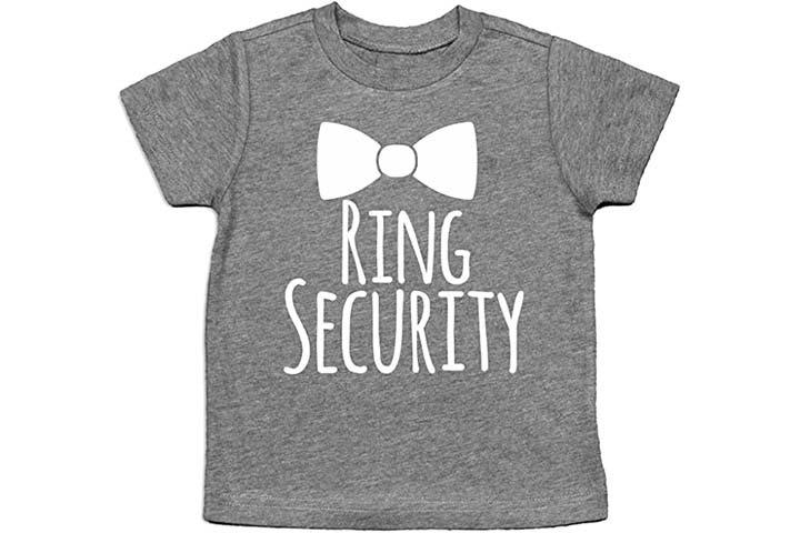Ring Security Shirt Ring Bearer Shirt