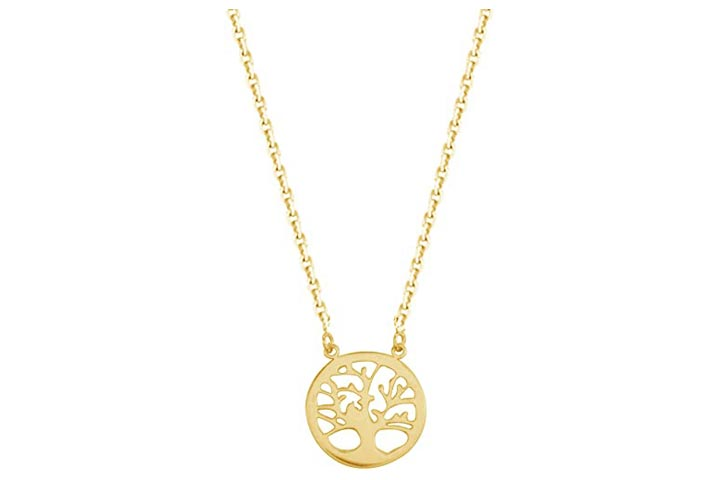 Ritastephens 14k Yellow Gold Tree Of Life Necklace