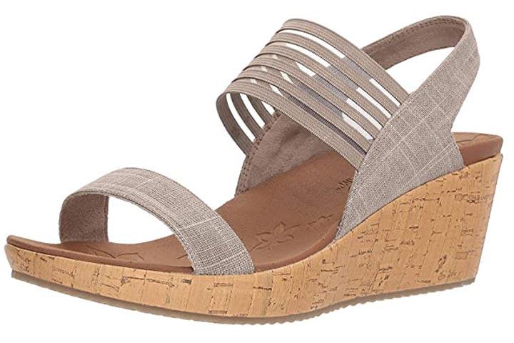 Skechers Cali Women's Beverlee Smitten Kitten Wedge Sandals