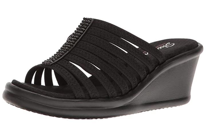 Skechers Cali Womens Rumblers Hotshot Wedge Sandals