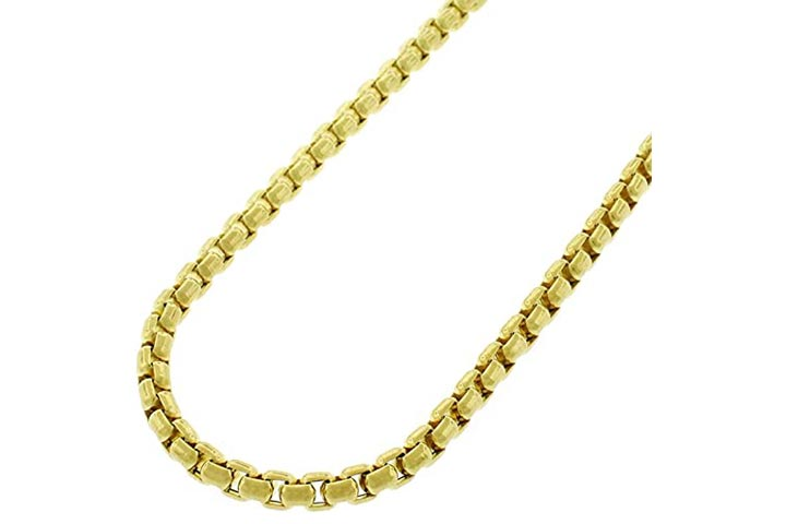 Style Designz Yellow Gold Box Cable Link Chain