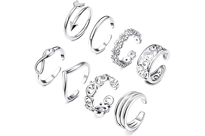 Sunmoon 8PCS Open Toe Rings