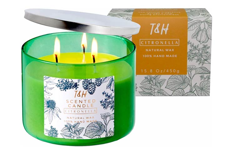 T H Citronella Candles For Outdoor And Indoor