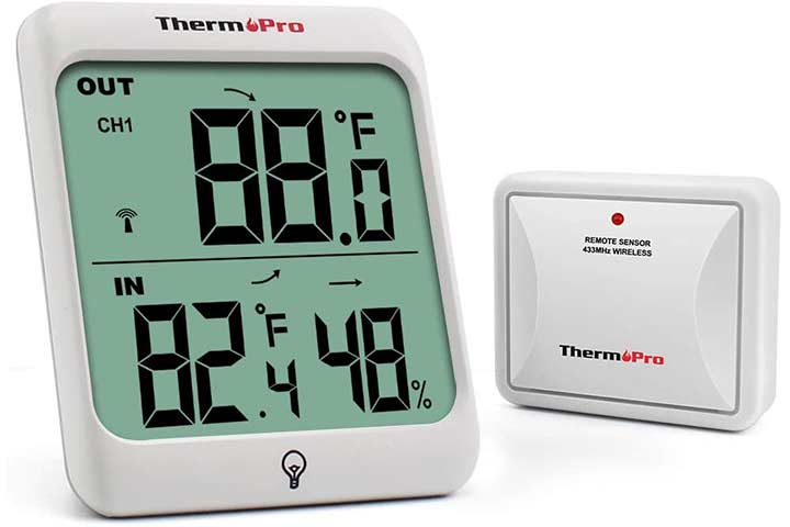 ThermoPro TP63 Digital Wireless Hygrometer Indoor-Outdoor Thermometer