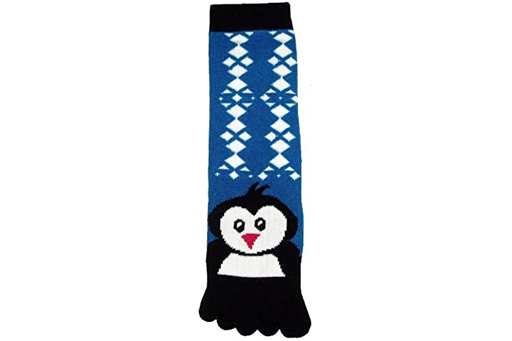 Toe Socks with Penguin