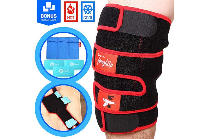 Toughito Hot & Cold Knee Ice Pack Wrap