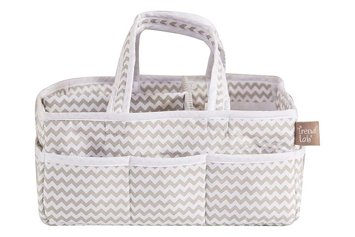 Trend Lab Dove Gray Portable Storage Caddy