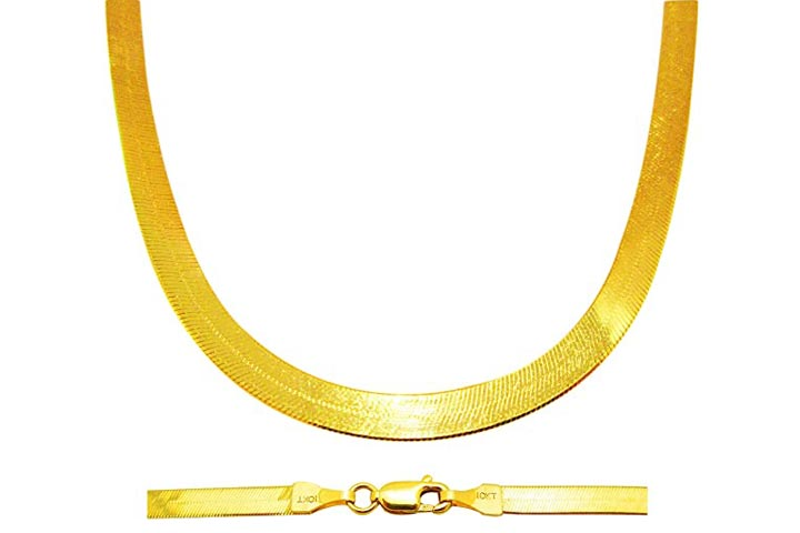 US-Shopsmart Herringbone Chain Necklace