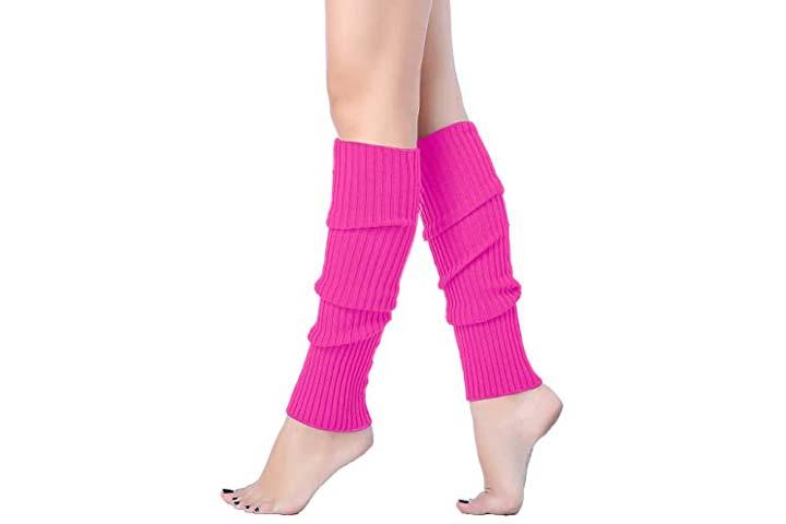 V28 Ribbed Leg Warmers For Juniors