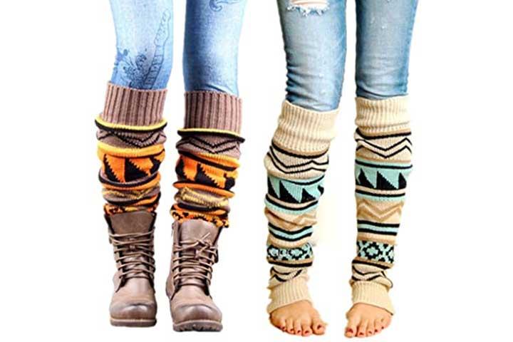 VIGVOG Womens Boho Knitted Leg Warmers for Women