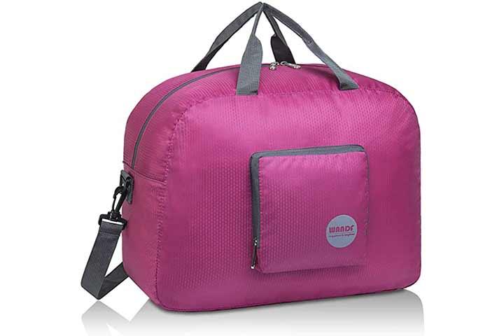 WANDF Foldable Duffle Bag for Travel Gym Sports