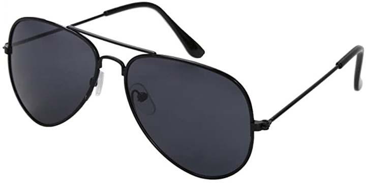 WODISON Classic Kids Aviator Sunglasses Reflective Metal Frame Children Eyeglass