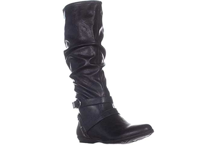 White Mountain Women's Fairfield Knee-High Slouchy Riding Boots