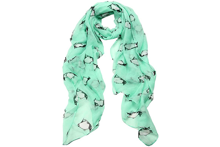 Women's Lady Scarf Shawl Penguin