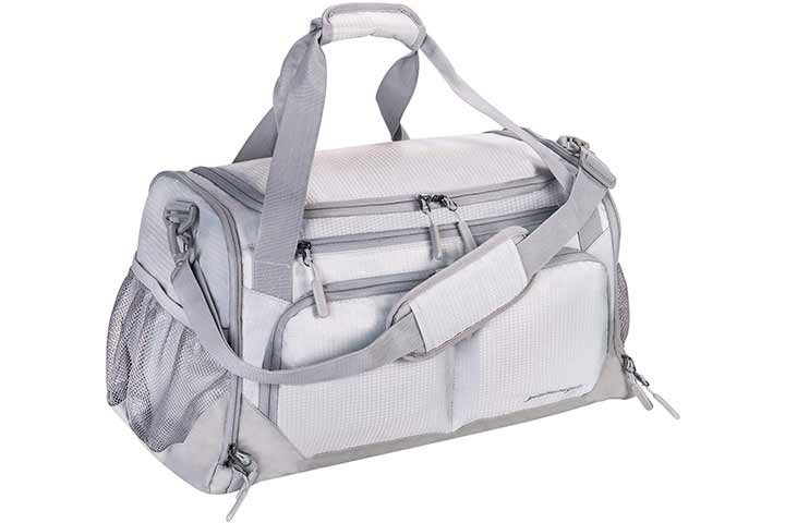 Yixinunique Gym And Sports Duffle Bag With Shoes Compartment, Gray