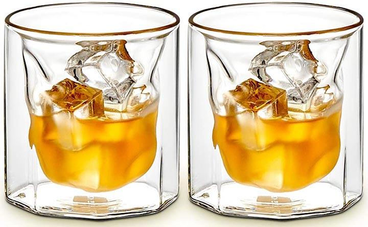 ZENS Hand Blown Bourbon Glass Set Of 2