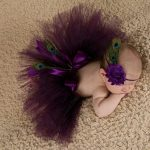 Bembika Knitted Peacock Tail & Headband Photo Props Set-Peacock tail and head band-By amarjeet