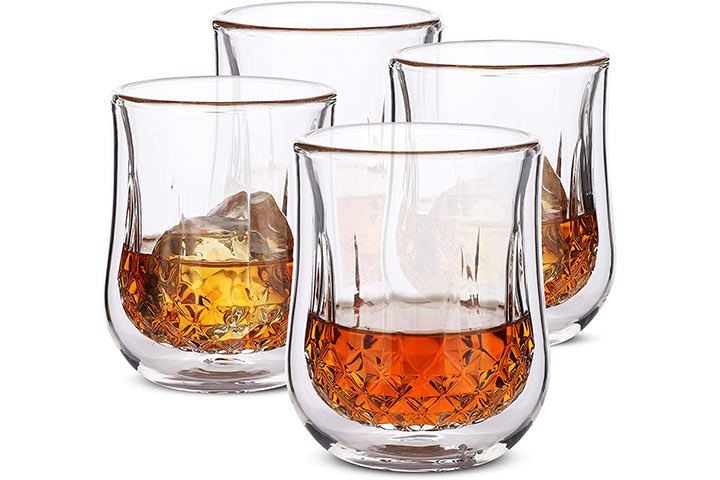 Set of 4 Bourbon Glasses By-Brew To A Tea