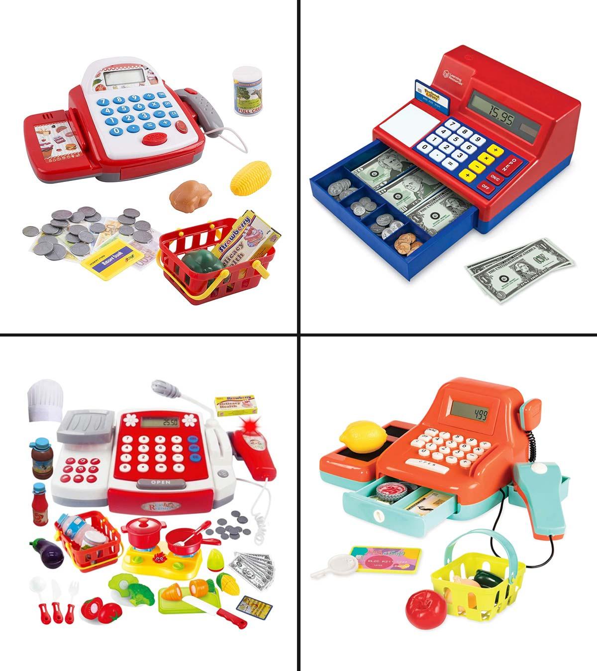 Cash Register Kids Toy Vegetables Children Pretend Play Toy Set Developmental