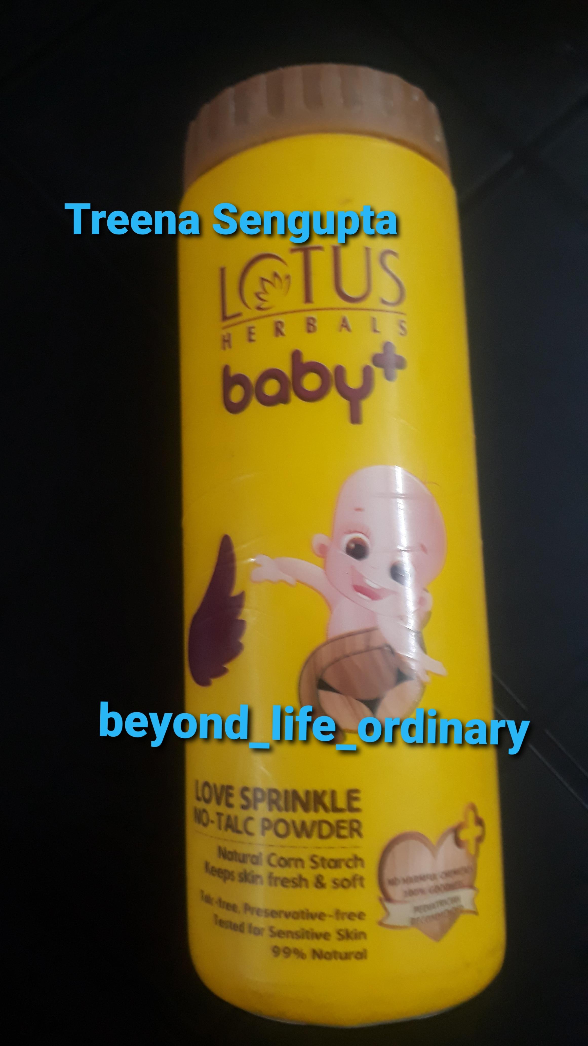 Lotus Herbals Baby+ Love Sprinkle No-Talc Powder-A must buy product-By treena123