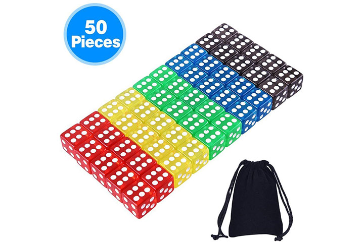 AUSTOR 50 Pieces Game Dice Set