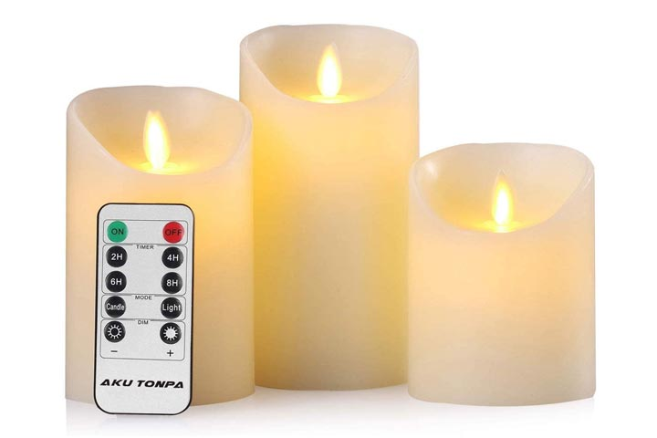 Aku Tonpa Glass Flameless Candles