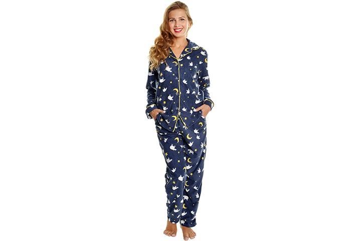 Angelina Women's Cozy Fleece Pajama Set