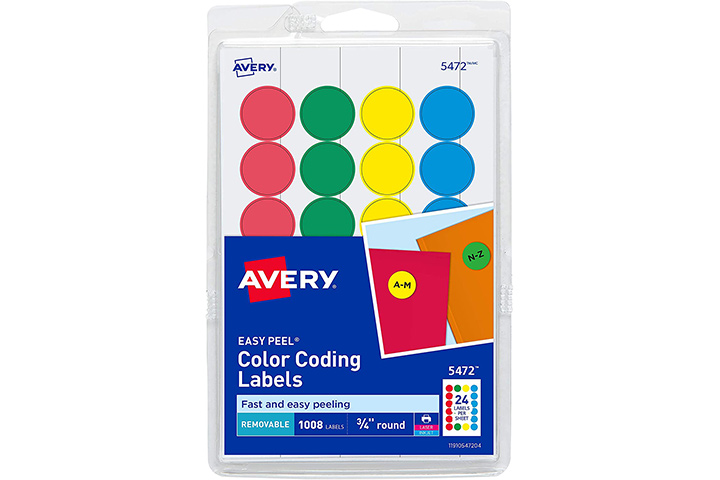 Avery Removable Print or Write Color Coding Labels