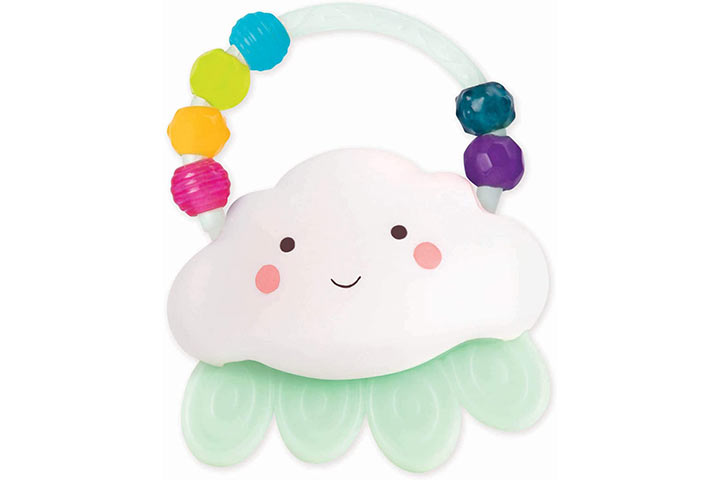 B. Toys by Battat Rain-Glow-Squeeze-Light-up Cloud Rattle