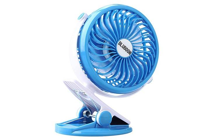 BLUBOON Clip-on Mini Stroller Fan