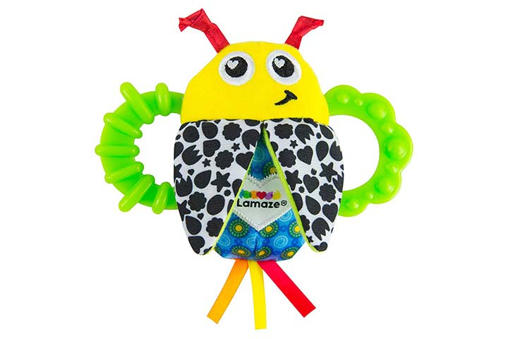 Baby Rattles and Teethers Lamaze Bitty Bite Bug Rattle