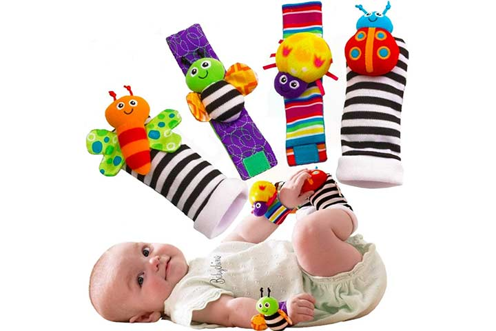 Babychino Foot Finders and Wrist Rattles